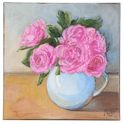 "Monica Cascio Oil Painting ""Sweet Blooms,"" 2020"