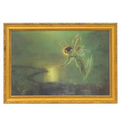 """Offset Lithograph After John Atkinson Grimshaw """"Spirit of the Night"""""""