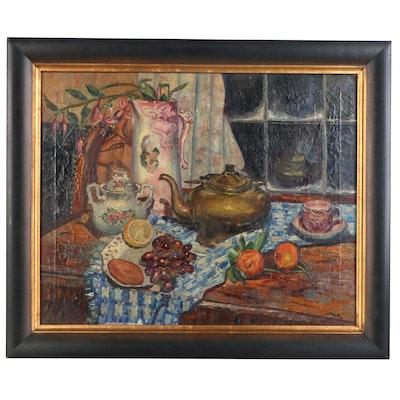 Richard John Bové Still Life Oil Painting, 1958