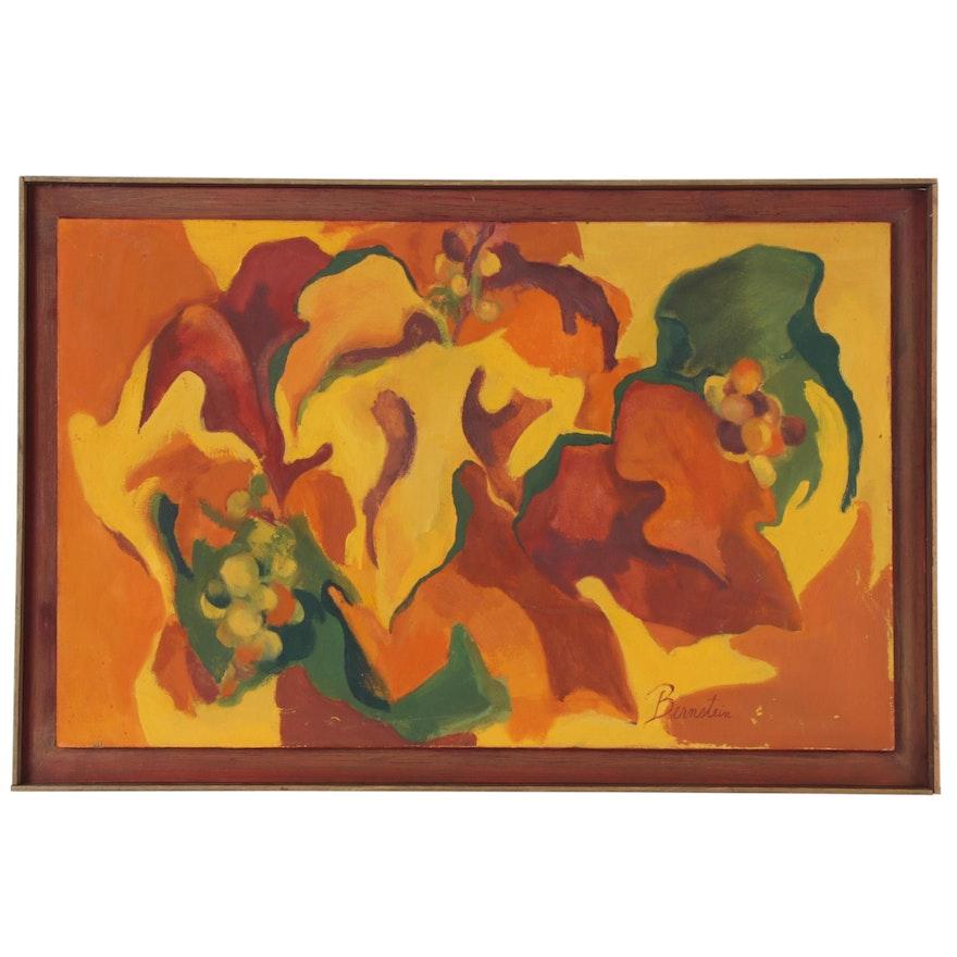 Bernstein Abstract Oil Painting, Mid 20th Century
