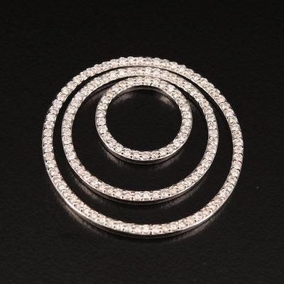 J.R. Dunn 18K Diamond Eccentric Circles Pendant