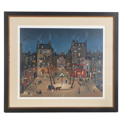 """Michel Delacroix Serigraph """"La Place de Furstenburg"""""""