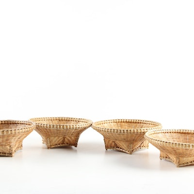 Southeast Asian Style Woven Accent Baskets