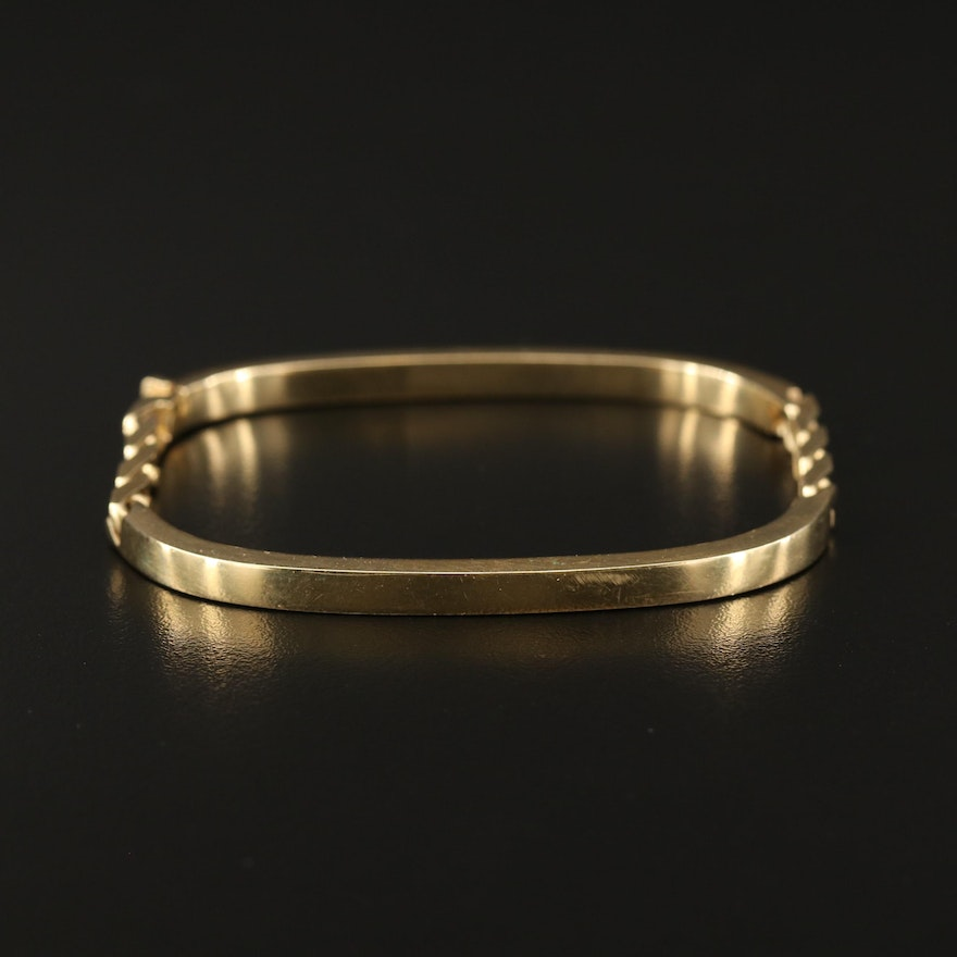 14K Cable Link Bangle