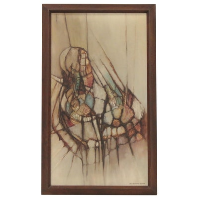James Reinhardt Peterson Abstract Oil Painting, Mid 20th Century