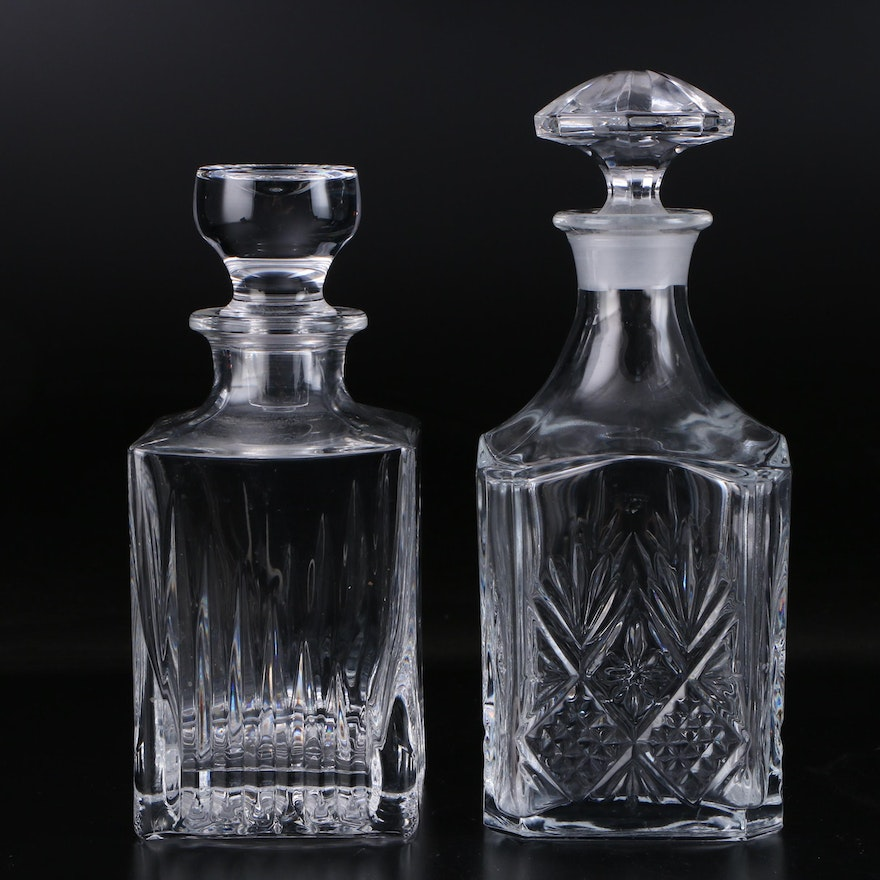 Cut Crystal Decanters with Stoppers