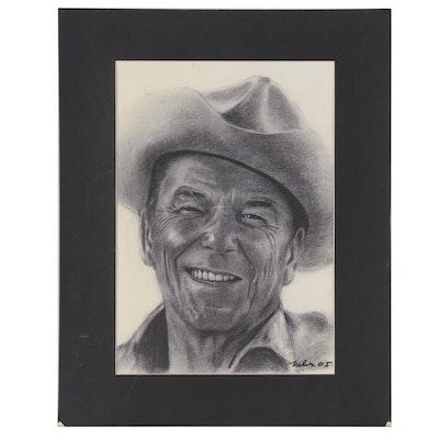 Offset Lithograph of Ronald Reagan, 2005