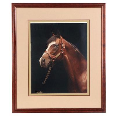 Tony Leonard Color Photograph of Horse, Late 20th Century