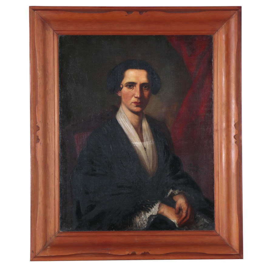 John Aubery Portrait Oil Painting, 1854