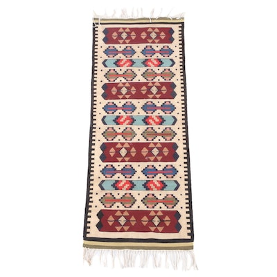 1'7 x 5'0 Handwoven Split Kilim Wool Runner
