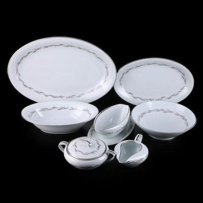 "Noritake ""Graywood"" Porcelain Serveware, Mid-20th Century"