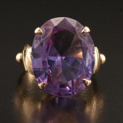 Vintage 9K Color Change Sapphire Ring