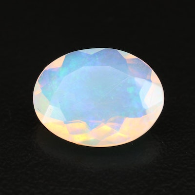 Loose 2.70 CT Oval Faceted Opal