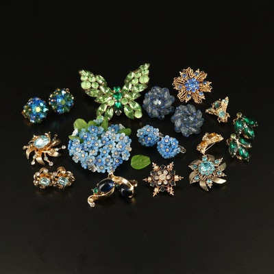 Vintage Rhinestone Jewelry Featuring Alfred Philippe, Crown Trifari and Weiss