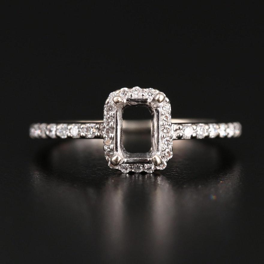 18K Diamond Semi-Mount Ring