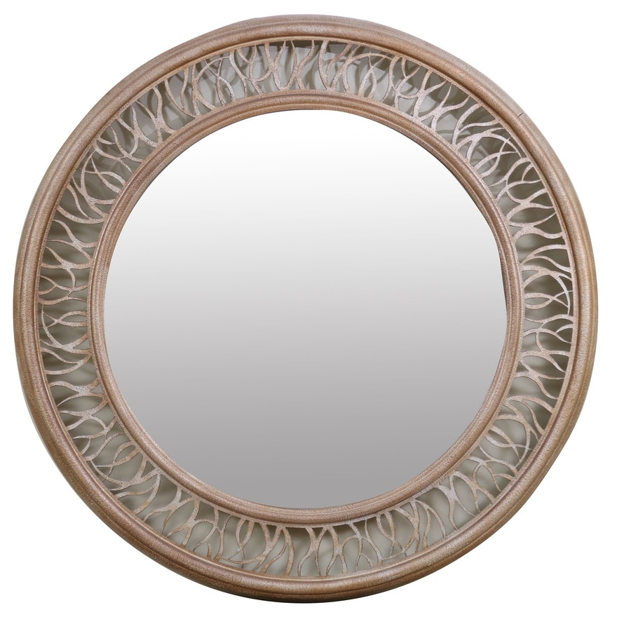 Bernhardt Large Round Decorative Wall Mirror, Contemporary