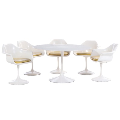 Mid Century Modern Tulip Table Dining Set, Mid-20th Century