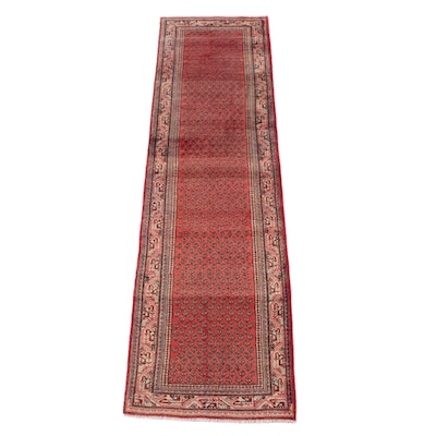 3'1 x 11'8 Hand-Knotted Persian Mir Serabend Wool Long Rug