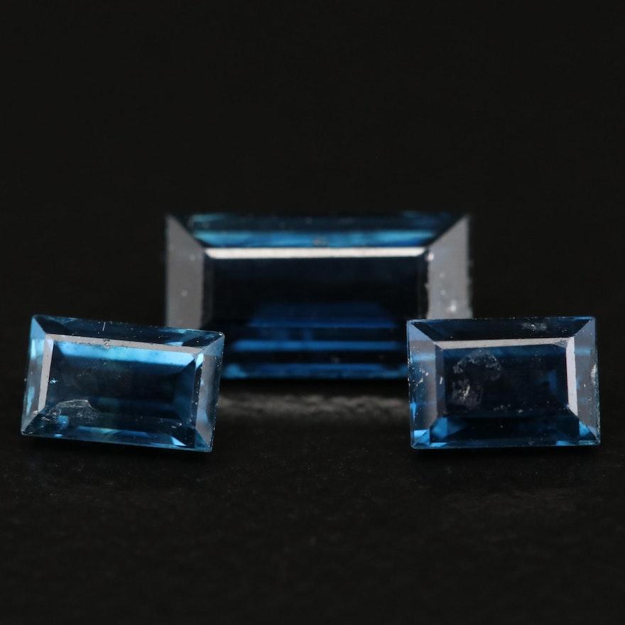 Loose 1.44 CTW Rectangular Faceted Sapphires