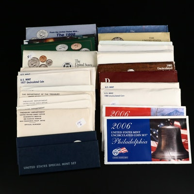 Twenty-Five US Mint Uncirculated Coin Sets