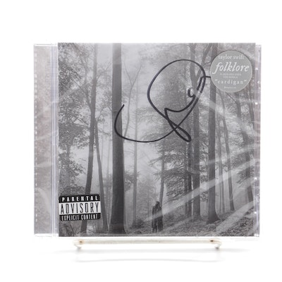 "Taylor Swift Signed ""Folklore"" Sealed CD, 2020"