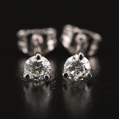 14K 0.25 CTW Martini Set Diamond Stud Earrings