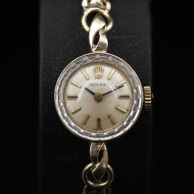Rolex 14K Gold Stem Wind Wristwatch