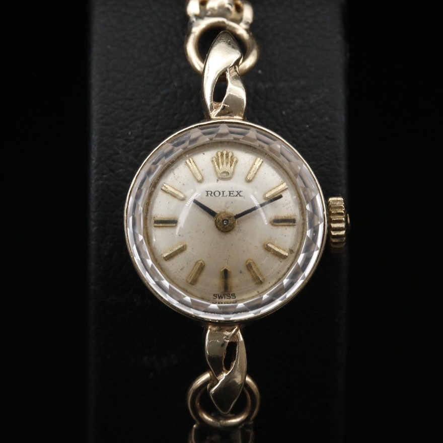 Rolex 14K Gold Stem Wind Wristwatch