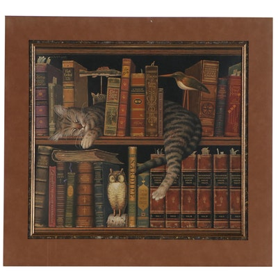 """Charles Wysocki Offset Lithograph """"Frederick the Literate"""", 1992"""