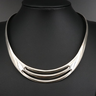 Mexican Sterling Silver Torque Collar
