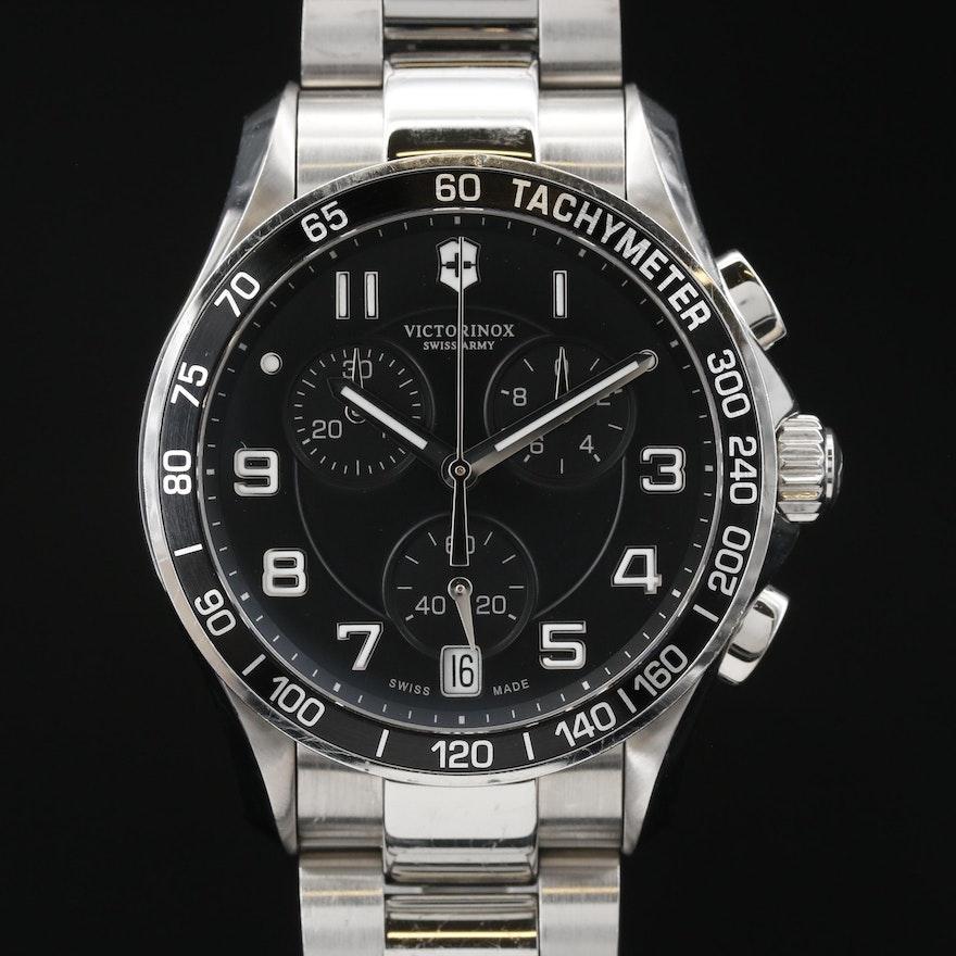 """Victorinox Swiss Army """"Chrono Classic"""" Stainless Steel Quartz Wristwatch"""
