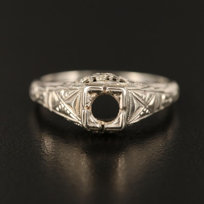 Vintage 14K Ring Mount