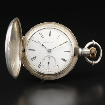 1883 Elgin Coin Silver Hunting Case Pocket Watch