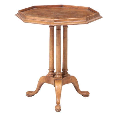 George II Style Tripod Table with Octagonal Burlwood Top