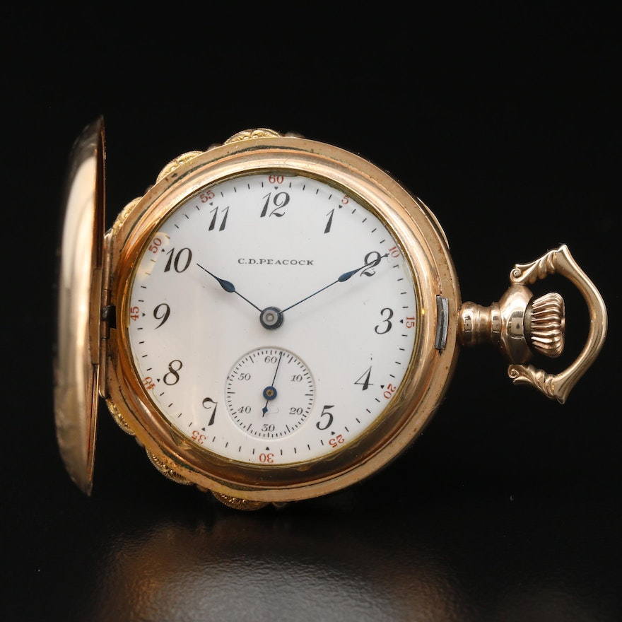 Elgin for C.D. Peacock Chicago Gold Filled Pocket Watch, Circa 1911