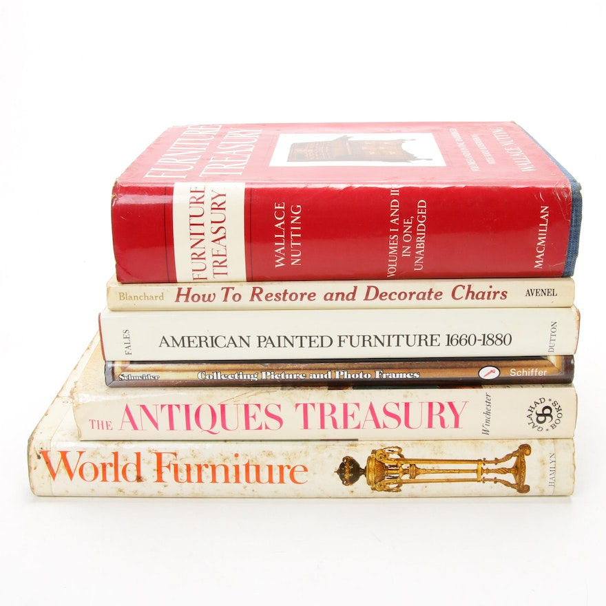 Books on Furniture, Antiques, and Collecting, Mid to Late 20th Century