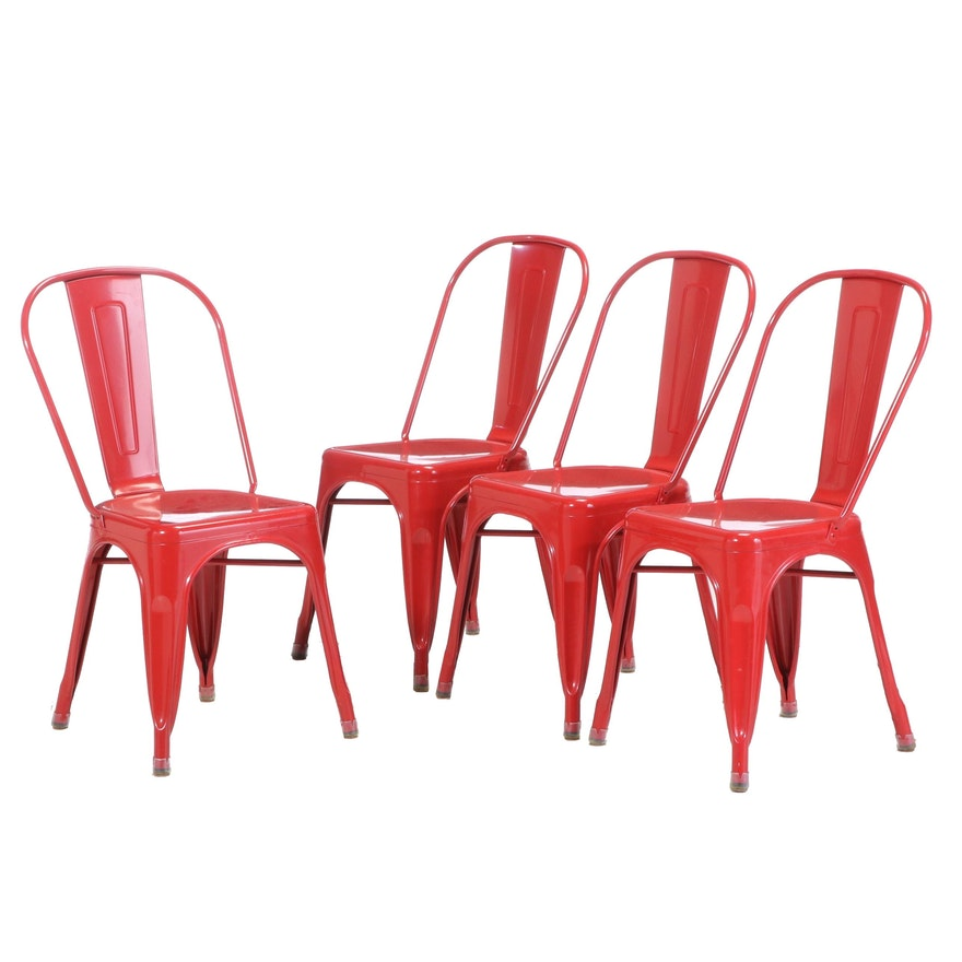 Industrial Style Metal Stacking Side Chairs