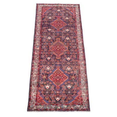 3'9 x 10'4 Hand-Knotted Persian Gogarjin Wool Long Rug