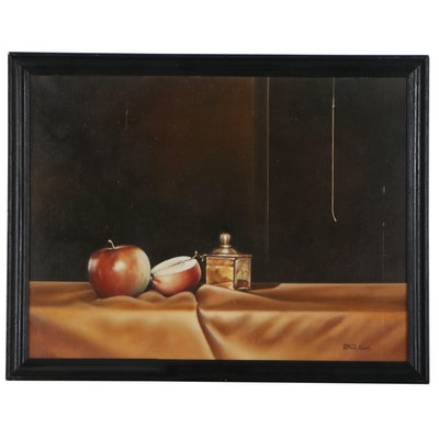 Roberto Almela Still Life Oil Painting, Late 20th Century