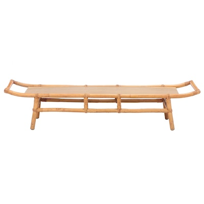 Modernist Bamboo and Laminate Top Coffee Table, Mid to Late 20th Century