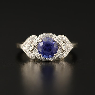 Parlé 18K Tanzanite and Diamond Ring