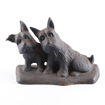Cast Iron Scottish Terrier Doorstop