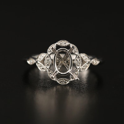 S. Kashi 14K Diamond Semi Mount Ring