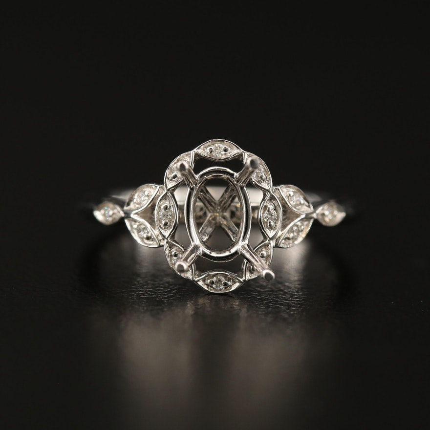 S. Kashi 14K Diamond Semi Mount Ring
