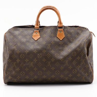Louis Vuitton Speedy 40 in Monogram Canvas and Vachetta Leather, Vintage