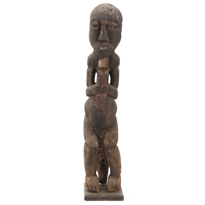 Teke Style Carved Wood Figure, Democratic Republic of the Congo