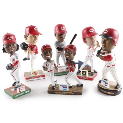 Cincinnati Reds Bobblehead Dolls with Boxes