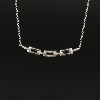 10K Diamond Cable Link Necklace