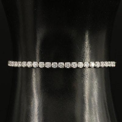 Sterling Silver Cubic Zirconia Bolo Bracelet