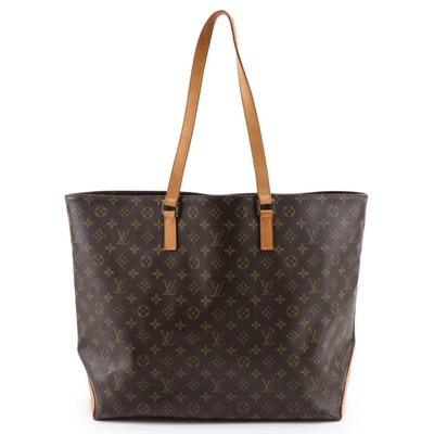 Louis Vuitton Cabas Alto Bag in Monogram Canvas and Vachetta Leather